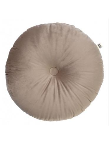 Sametový kulatý polštář béžový  Ø40cm