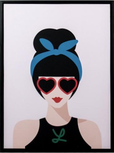 Obraz dáma s brýlemi