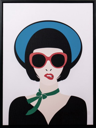Obraz dáma s kloboukem
