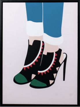 Obraz boty na vysokém podpatku II
