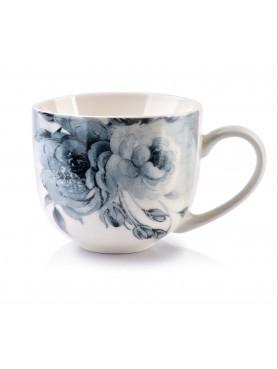 Porcelánový hrnek ELLIE modrý květ I