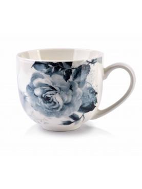 Porcelánový hrnek ELLIE modrý květ II