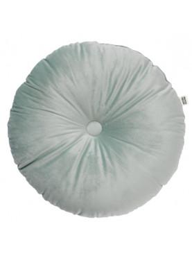 Sametový kulatý polštář nefritově zelená Ø40cm