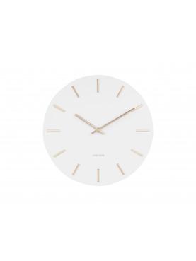 KARLSSON Designové nástěnné hodiny Charm bílo-zlaté