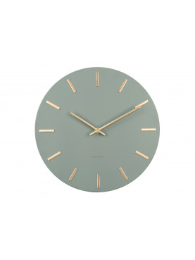 KARLSSON Designové nástěnné hodiny Charm zeleno-zlaté