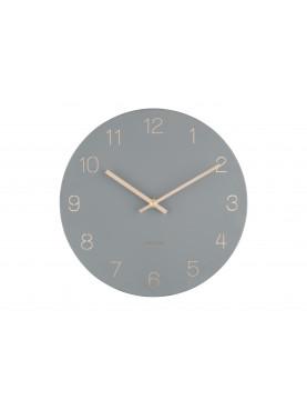 KARLSSON Designové nástěnné hodiny Charm šedo-zlaté