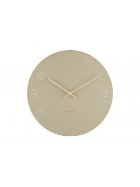 KARLSSON Designové nástěnné hodiny Charm okrově-zlatá
