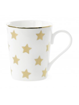 Designový keramický hrnek hvězdičky zlaté Miss Étoile