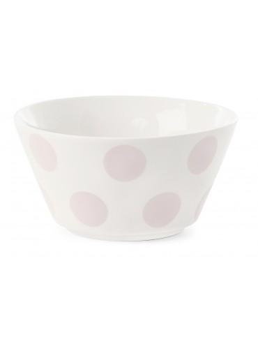 Miska s růžovými puntíky