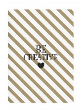 """Designový sešit """"Be creative"""" A4"""