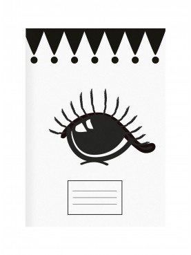 "Designový sešit ""Big eyes and dots"" set 2ks Miss Étoile"