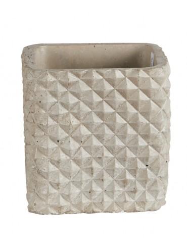 Designový šedý květináč z cementu S