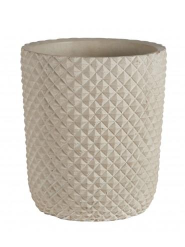 Designový květináč šedý z cementu L