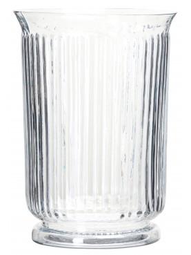 Retro skleněná váza Betty čirá