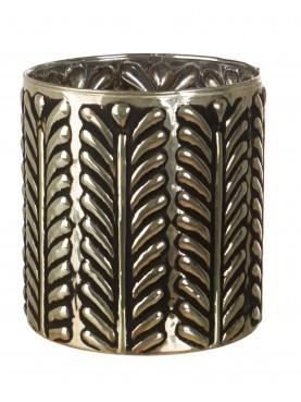 Skleněná designová váza Aurora stříbrná