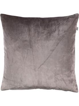 Sametový polštář Cido 45x45cm hnědý