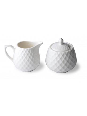 Porcelánová cukřenka s mléčenkou Diament