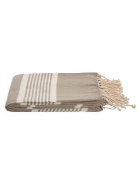 Bavlněná deka Au Maison Ingrid 100x185 béžová