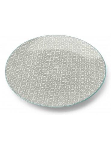 Jídelní talíř Maroko šedý