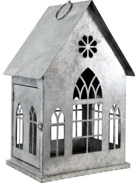 Plechový domeček na svíčky Maison
