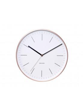 Designové hodiny Minimal bronzové