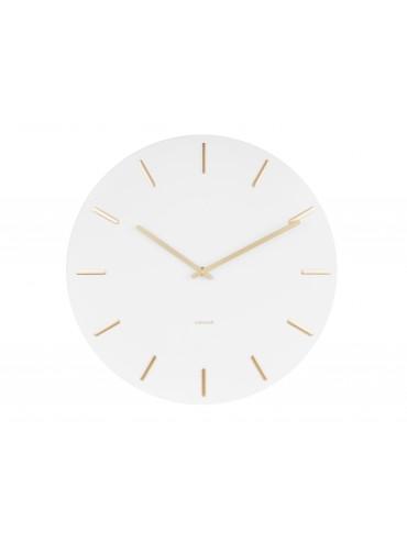 Nástěnné hodiny Charm bílo - zlaté