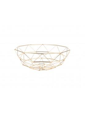 Kovová mísa zlatá Diamond XL