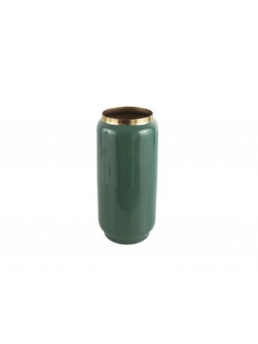 Kovová váza Flare zelená L