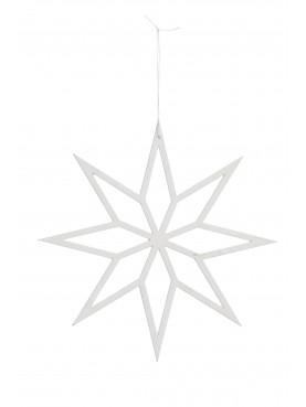 Dřevěná hvězda bílá 30cm