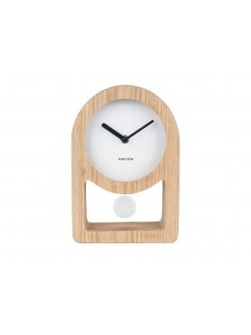 KARLSSON Dřevěnné stolní hodiny Lena