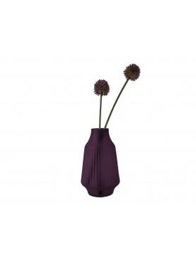 Skleněná váza Stripe fialová