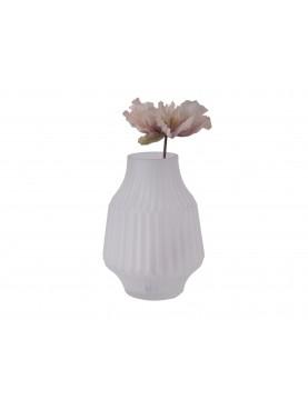 Skleněná váza Stripe bílá