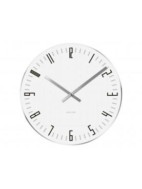 KARLSSON Nástěnné skleněné hodiny Slim