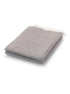 Béžová deka s třásněmi Hedwig 130x180cm