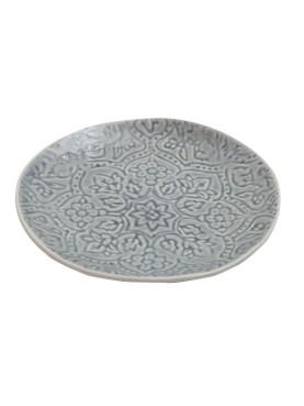 Designový keramický dezertní talíř Botanico staromodrý