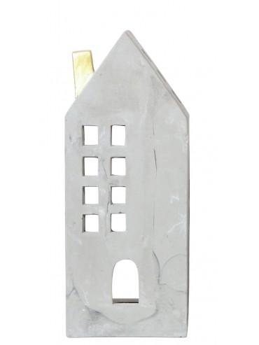 Domeček na svíčku z cementu L