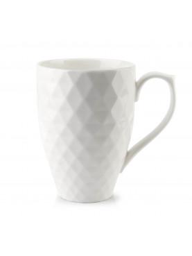 Porcelánový hrnek Diament bílý