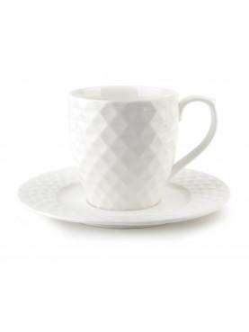 Porcelánový šálek s podšálkem Diament