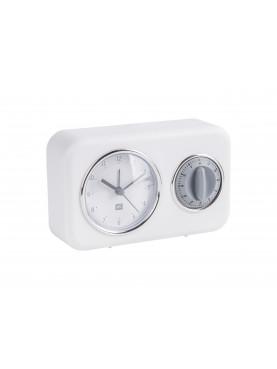 Nástěnné hodiny s minutkou bílé