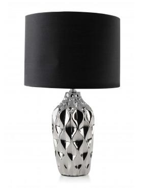 Designová keramická lampa GEO stříbrná