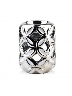 Keramická aromalampa stříbrná