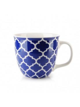 Hrnek Maroko modrý geometrický vzor