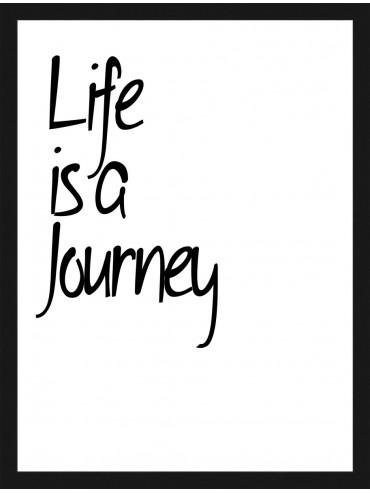 "Rámovaný obraz ""Life is a Journey"""