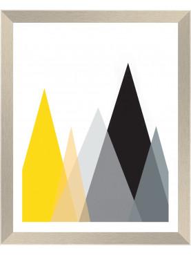 Rámovaný obraz barevná geometrie 20x25cm