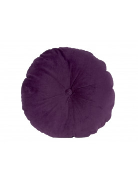 Sametový kulatý polštář fialový Ø45cm
