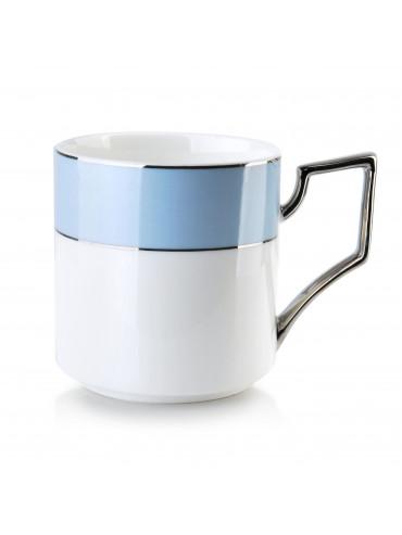 Porcelánový hrnek bílo-modrý