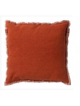 Bavlněný povlak na polštář Burto 45x45cm cihlový