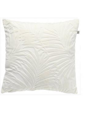 Povlak na polštář Rostlinný motiv 45x45cm bílý