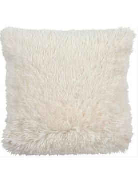 Povlak na polštář s dlouhým vlasem Fluffy 45x45cm bílý
